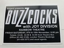 More details for the buzzcocks / joy division poster the rainbow 1979