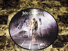 Megadeth Dave Mustaine Signed Vinyl Picture Disc Record Countdown To Extinction