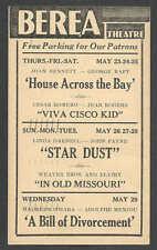 1940 BEREA THEATRE OH SHOWING STAR DUST W/L DARNELL & J PAYNE ETC