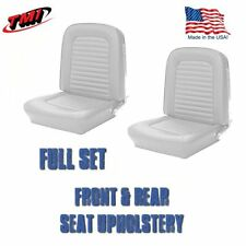 Front & Rear Seat Upholstery White Vinyl for 1964-1/2 &1965 Mustang Convertible