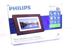 "Philips Digital PhotoFrame LED Panel Walnut Wood Frame 10.1"" SPF3403/G7"