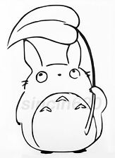 My Neighbor Totoro Chu Totoro Holding Leaf Decal Sticker phone laptop car window