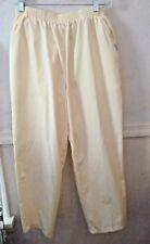 Women's Chic Jeanswear pants slacks yellow 100% cotton size 14 Petite