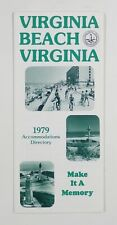 1979 VIRGINIA BEACH Accommodations Directory TRAVEL BROCHURE cottages rentals &c