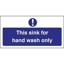 Vogue Hand Wash Only Sign [L952]