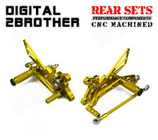 CNC Foot Pegs Adjustable Rear Sets Rearsets Fit Yamaha YZF-R6 2006-2013 2014 15