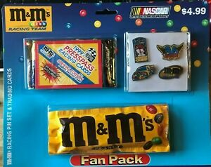 M&M RACING TEAM FAN PACK NASCAR PRESS PASS CARDS  SHRINK WRAPPED  Pins  [05]