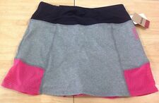 NEW Reebok Slim Sport Tennis Skirt Skort Pink Gray Pleated XS NWT MSRP $54