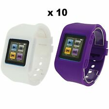 Rubz Blanco Morado Pulsera de Reloj Funda para Apple iPod Nano 6Gen 10 packs