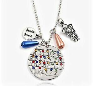 STRANGER THINGS Demogorgon 11 Alphabet Light Wall Pendant Necklace Gift UK