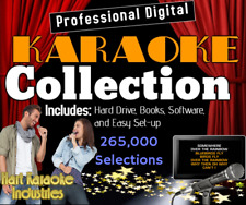 Professional Karaoke - 265,000 Songs+ 2Tb Hard Drive - Licensed Software