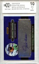 GIANCARLO STANTON MIKE 2008 Razor Metal rookie BLUE Auto 47 signed BGS BCCG 10