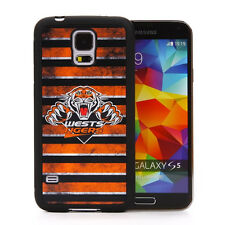 Licensed NRL Wests Tigers Case Cover for Samsung Galaxy S5 - Grunge