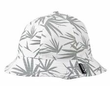 ADIDAS ORIGINALS TONER BUCKET HAT CAP WHITE GREY PALM LEAVES BEACH HEMP NEW