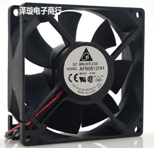 1pc Delta AFB0812HH 12V 0.30A 8CM 8025 2-wire High Air Volume Cooling Fan
