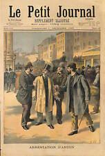 Léopold Émile Aron ARTON SCANDALE PANAMA  ARRESTATION 1896 ILLUSTRATION