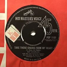 """RAY CHARLES Take These Chains From My Heart HMV UK 1963 N/M Pop 7"""""""
