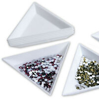 4X Container Holder Triangle Phone / Craft / Nail Art / Rhinestones Gems B_ws