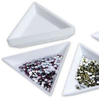4X Container Holder Triangle Phone / Craft / Nail Art / Rhinestones Gems B_ws