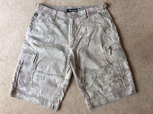 Mens Animal Cargo Shorts Size 32
