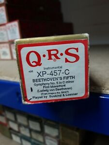 Vintage pianola roll QRS Beethovens fifth