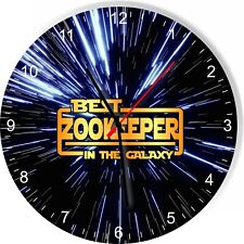 Best Zookeeper in the Star Galaxy Space Kitchen Living room Wall Clock