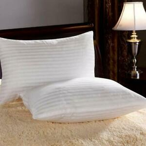 Soft Fluffy Fiber Filled Bed Pillow Sleeping Pillows (Set of 2) Cotton Washable