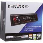 Kenwood KDC168U In-Dash CD/AM/FM Digital Media Receiver w/ Front USB and Aux in