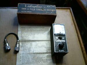 Lafayette 99-25835 SWR + Field Strength METER short wave radio vintage old tool
