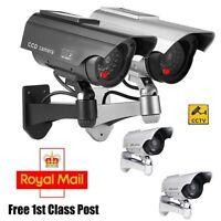 New Solar Power Dummy Surveillance Fake CCTV Security Camera LED Record Light Uk