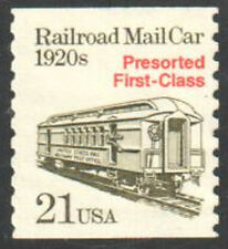 SC#2265 - 21c Railroad Mail Car Presorted First Class Rate Coil Single MNH