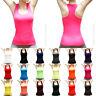Women Seamless Ribbed Racer Back Stretch Tank Top Sleeveless Tee Sports Yoga Gym