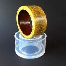 CLEAR SILICONE MOLD, (MB052) FOR THICK BANGLE BRACELET,RESIN JEWELRY