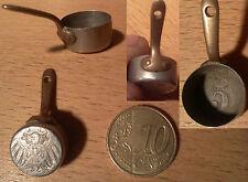 Ancien artisanat tranché poilu casserole sculptée piece monnaie première guerre