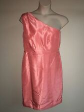 Dress Barn Dress RSVP Womens Coral One Shoulder Dress Size 16 Bridesmaid Prom