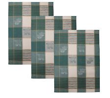 Betz Lot de 3 torchons en lin mélangé HUNGARY à motif CUISINE taille: 50x70 cm c