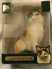 """Calico Shorthair Cat Collectible Ornament Christmas Tree Box 3"""""""