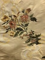 Old World Weavers Silk Embroidred Drapery Upholstery Fabric 27x30 Inches