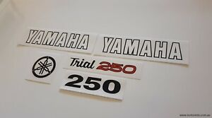 Yamaha TY250a Decals / Stickers New