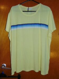 M&S 'GoodMove' Top T-Shirt Relaxed Activewear Fitness Running 20 Lime Mix BNWT
