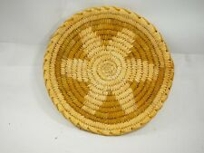 "Wonderful Vintage Papago Star Woven basket Tray 10"""