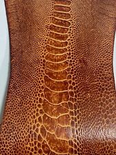 Ostrich Legs Skin Leather Vintage Chesnutt  (%100 Genuine Ostrich Leather)