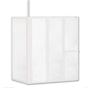 Schulte Badewannenfaltwand 3-teilig mit Seitenwand Badewannenaufsatz Dusche