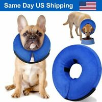 Blue M Size Soft Pet Inflatable Protective E-Collar Cone for Dogs and Cats NEW