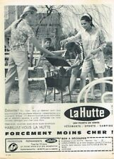 H- Publicité Advertising 1968 Les Vetements de sports La Hutte