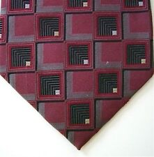 "Daniel Craig Men's Silk Geometric Neck Tie Purple Gray Wide 4"" x 59"""
