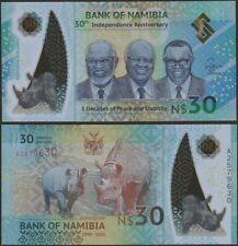 Namibia P Neu B218 30 Dollars Gemeins. 2020 Polymer 30th Ind Jubiläum @ Ebs