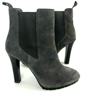 Lauren Ralph Lauren LRL Tiara Ankle boots 9.5 suede gray heel bootie stiletto