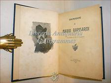 ONORANZE a MARIO RAPISARDI (Campanozzi) 1899 Catania Di Mattei, con Ritratto