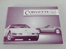 Betriebsanleitung / Handbuch Chevrolet Corvette C4 von 1994